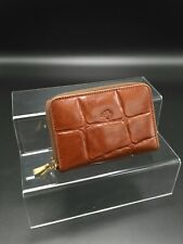 Mulberry Double Zip Around Key /Coin Wallet in Oak Congo Leather