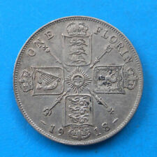 Grande Bretagne Great Britain 1 florin 2 shillings argent 1918 km 817
