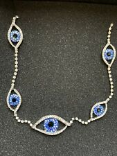 Butler and Wilson 5 Crystal Eye Charm Necklace New In Box