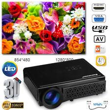 1080p HD 5000 Lumen LED LCD 3d Projektor Beamer Heimkino Projector