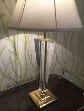 Luxus Perspex Brass Design Table Lamp 70s Tischleuchte Plexiglas Messing 70er