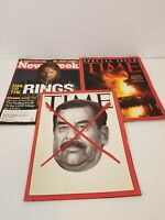 Time Magazine April 21, 2003 Death of Saddam Hussein,Gulf War, And LotR Newsweek