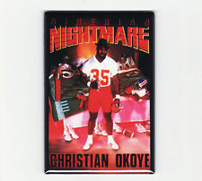 CHRISTIAN OKOYE / NIGERIAN NIGHTMARE - FRIDGE MAGNET costacos poster chiefs nike
