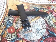BLACK LEATHER ROTARY / TYPE WATCH STRAP/BAND SS BUCKLE SPRING BARS 18 20 22 mm