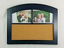 Cork Board Picture Collage Black Frame Home or Office Memo Notes Message