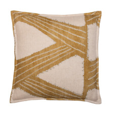 """New Cushion Cover from Kanoko Fabric by Zoffany 16 x 16"""" gold"""