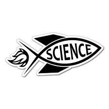 ROCKET JESUS FISH SCIENCE Sticker Decal Funny Vinyl Car Bumper #6650EN