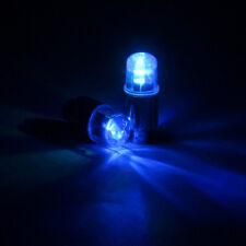 LED Flash Light Bicycle Motorcycle Car Bike Tyre Tire Wheel Valve Blue Lamp 2pcs
