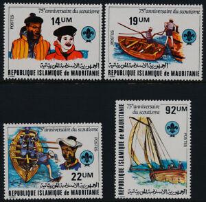 Mauritania 495-8 MNH Scouting Year, Boat