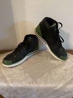 Nike Air Jordan Retro 1 High Strap Black/Green Leather Sz M 12 Style 342222-031