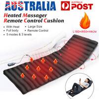 Massage Mat Pad Mattress Full Body Heated Massager Cushion Back Car Home