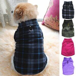 Small Pet Dog Fleece Harness Vest Jumper Sweater Coat Puppy Shirt Jacket Apparel