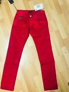 Mens Armani Jeans J20CN STRETCH CHINO JEANS RED Slim W30 L32 H6 RRP£145