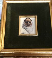 Estate Find. Wonderful Little Painting Of An Old Man. Part Of The Set.   Vintage