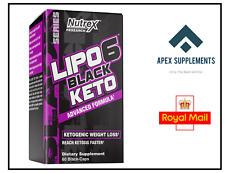 Nutrex Research Lipo-6 Black Keto (60 Caps) - Fat Burner Weight Loss Ketosis