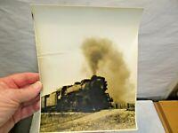 "vintage Railroad Steam Engine 8""x10"" B&W Photograph by Ken Marsh Photographer NR"