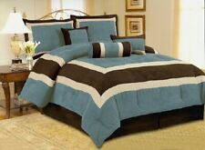 *Deluxe Edition* Micro Suede Comforter Set bedding-in-a-bag multiply color