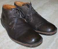 JOHN VARVATOS MEN BOOTS / SHOES / HAND MADE IN ITALY SZ 9 / BROWN LEATHER