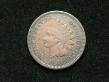 SUMMER SALE!!  1881 INDIAN HEAD CENT PENNY w/PARTIAL LIBERTY *COLLECTIBLE* #8x