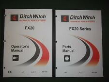DITCH WITCH FX20 VACUUM EXCAVATOR PART OPERATION MAINTENANCE MANUAL