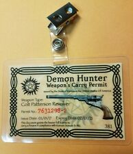 Supernatural ID Badge-Demon Hunter Weapon's Carry Permit costume cosplay