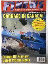 F1 NEWS FORMULA ONE MAGAZINE 1998 No.10 June 13  Formel 1
