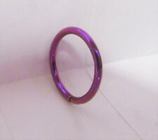 Purple Titanium Snap in Hoop Helix Lip Conch Cartilage Piercing 16 gauge 10 mm