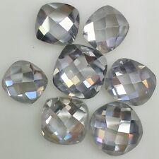 Cushion Rose Cut Loose Moissanite 4 Ring/Pendant 1.25 Ct 7.04 x6.86 Mm Vvs1 Gray