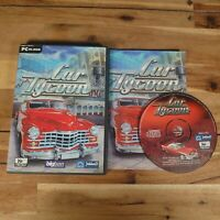 CAR TYCOON  / PC CD-ROM  Management Sim Game Complete With Manual