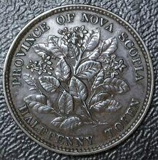 OLD CANADIAN COIN 1856 NOVA SCOTIA - HALF PENNY TOKEN - BRONZE - Victoria