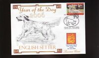 ENGLISH SETTER YEAR OF THE DOG STAMP SOUV COVER 1