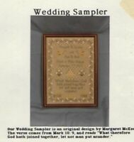 WEDDING SAMPLER Cross Stitch Pattern by Margaret & Margaret, Inc., Booklet #7