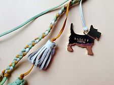 Genuine Radley Leather Handbag Charm With Metal Dog Tag