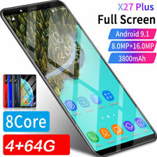 """5.8"""" Android 9.1 Unlocked Cheap Mobile Smart Phone Dual SIM 4 +64GB Smartphone"""