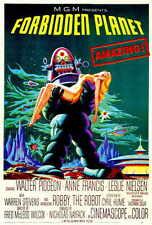 FORBIDDEN PLANET Movie POSTER 27x40 Walter Pidgeon Anne Francis Leslie Nielsen