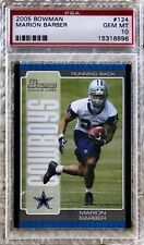 2005 BOWMAN MARION BARBER RC PSA 10 POP 4 CARDREGISTRY COWBOYS