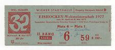 Orig.Ticket   Eishockey WM ÖSTERREICH 1977   KANADA - SCHWEDEN  !!  SEHR SELTEN
