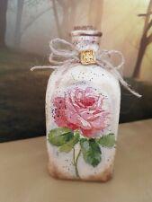 Shabby chic bottle 100 ml, perfume, Mother's Day, cork tops handmade floral,rose