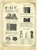 1902 PAPER AD Poker Chips Lily Dragon Playing Cards Hart's Poker Dice