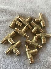 """10- 3/4"""" Ends X 3/4"""" Middle x 1/2"""" End PEX Brass Crimp On reducer Tees Fittings"""