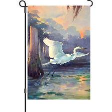 """Heron Sunrise (12"""" x 18"""" Approx) Garden Flag.5. Pr 56163"""