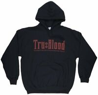 True Blood Synthetic Nourishment Sweatshirt Hoodie Black HBO Licesned Mens