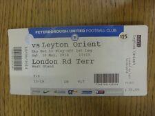10/05/2014 Ticket: Play-Off Semi-Final League 1, Peterborough United v Leyton Or