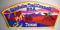 BSA CHISHOLM TRAIL COUNCIL SHOULDER PATCH OA FLAP TEXAS COWBOY CSP