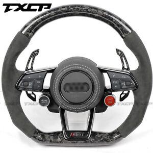For Audi 2019 R8 TTRS Alcantara MAT / White Line /Carbon Fiber Steering wheel