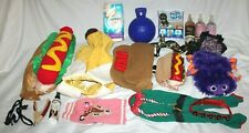 Lot of 19 S/M Dog Clothes Harness Jolly Ball Toys Diapers Costumes Cologne Clip