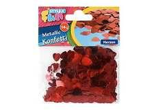 Stylex Fun 14g Metallic Konfetti 14082 Tischstreu rote Herzen (8 /100g)