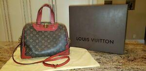 Authentic Louis Vuitton Handbag Purse Classic Monogram Retiro NM Poppy Red LV EC