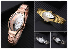 Women Wrist Watches Alloy Strap Crystal Oval Dial Casual Analog Part Moon Watch