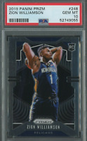 2019-20 Panini Prizm #248 Zion Williamson Pelicans RC Rookie PSA 10 GEM MINT